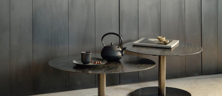 Ethnicraft Sphere coffee table umber